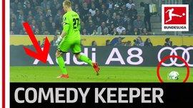Найсмішніший момент сезону в Бундеслізі: голкіпер Центнер пояснив, як сплутав м'яч з 11-метровою позначкою