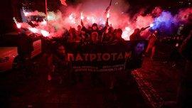 В Киеве провели марш в поддержку пленных фанатов Зари на Донбассе