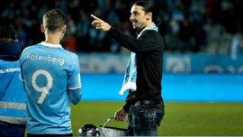 Ибрагимович вручил Мальме чемпионский трофей, нарушив регламент