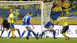 Швеция – Италия – 1:0 – Видео гола и обзор матча