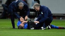 Бонуччи сломали нос на первой минуте матча Швеция – Италия