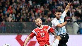 Агуэро вышел на 3 место среди лучших бомбардиров Аргентины, забив гол России