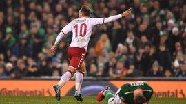 Дания в гостях поиздевалась над сборной Ирландии и вышла на чемпионат мира