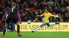 """Англия и Бразилия расписали безголевую ничью на """"Уэмбли"""""""
