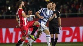 Жирона и Реал Сосьедад сыграли в результативную ничью