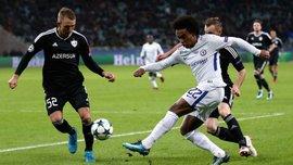 Челси разгромил Карабах благодаря дублю Виллиана и вышел в 1/8 финала Лиги чемпионов