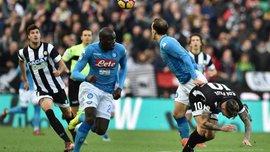 Наполи на выезде минимально переиграл Удинезе, Милан и Рома свои матчи завершили вничью