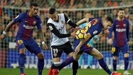 Барселона вирвала нічию у скандальному матчі проти Валенсії