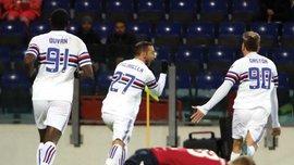 Кальяри и Сампдория в феерическом матче сыграли в результативную ничью