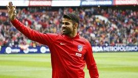 Диего Коста попал в заявку Атлетико на матч Кубка Испании против Льейды и может сыграть впервые в сезоне
