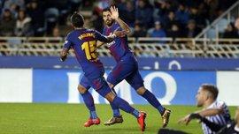 Суарес пошив у дурні оборону Реала Сосьєдад, перекинувши м'яч через голкіпера