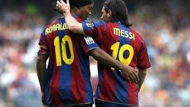 """Месси обратился к Роналдиньо эмоциональным письмом: """"Хотя ты решил уйти, футбол никогда не забудет твоей улыбки"""""""