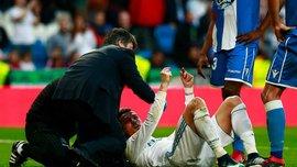 Роналду получил медицинскую помощь после травмы в матче с Депортиво