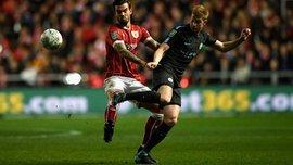 Манчестер Сіті з Зінченком у складі знову переміг Брістоль Сіті та вийшов у фінал Кубка Ліги