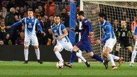 Барселона уверенно переиграла Эспаньол и прошла в 1/2 Кубка Испании