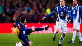 Захисник Еспаньйола Ермосо в матчі з Леганесом забив 2 голи в свої ворота і 1 в чужі, чого ніколи не траплялось в історії чемпіонату Іспанії