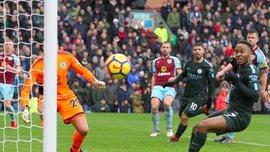 Манчестер Сити упустил победу над Бернли: конкурент Зинченко забил супергол, Стерлинг промазал с метра
