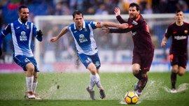 Барселона врятувалась від першої поразки – Еспаньйол втратив перемогу в дощовому дербі