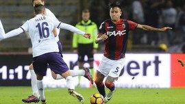 Болонья – Фиорентина: команды обменялись голами после прямых ударов с углового