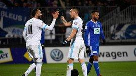 Марсель розбомбив Бур Перонну в Кубку Франції, Окампос і Мітроглу оформили хет-трики