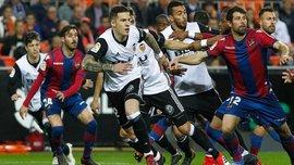 Валенсия на домашнем стадионе уверенно обыграла Леванте