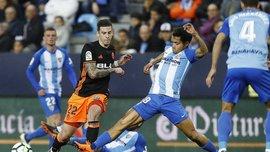 Малага – Валенсия – 1:2 – видео голов и обзор матча