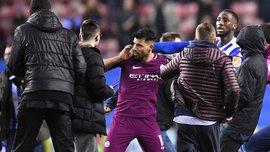 Футбольна асоціація Англії розслідує скандальний епізод за участі Агуеро