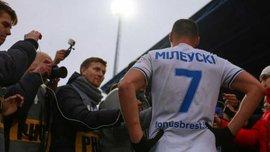 Милевский рассказал, почему сменил игровой номер в Динамо Брест