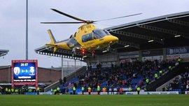 Фанату Честерфилда стало плохо во время матча, ему на помощь вызвали вертолет