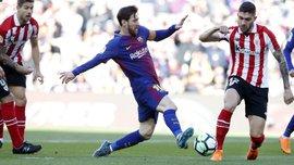 Барселона переиграла Атлетик – гол после офсайда, новые перекладины, танцы Месси и ассист Дембеле