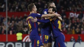 Барселона выдала невероятный камбэк против Севильи: Месси спас каталонцев