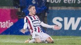 Защитник Виллема II Цимикас забил блестящий гол бисиклетой
