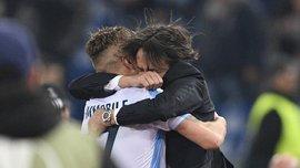 Лацио – Зальцбург: Иммобиле после гола грубо схватил Симоне Индзаги за шиворот
