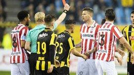 Нападающий Спарты Крамер дисквалифицирован на 7 матчей за удар шипами в лицо Бюттнеру