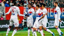 Лига 1: Лион разгромил Дижон, Ренн в меньшинстве одержал ничью против Нанта
