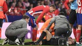 Атлетико – Арсенал: Косьельни получил травму и покинул поле на носилках