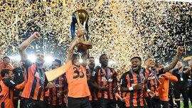 Церемония награждения победителя Кубка Украины