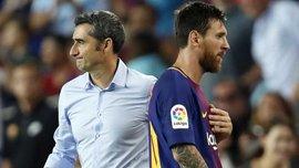 Вальверде не взяв Мессі та ще кількох гравців на матч Леванте – Барселона