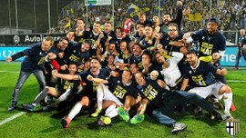 Фанаты Пармы отпраздновали возвращение команды в Серию А