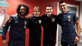 Игроки Реала сделали фото на Энфилде, чем разозлили фанатов Ливерпуля