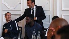 Макрон встретился со сборной Франции перед ЧМ-2018