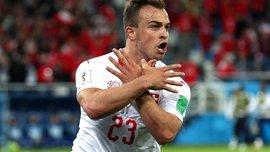 ЧС-2018: ФІФА оштрафувала Джаку, Шакірі та Ліхтштайнера за жест прапора Албанії