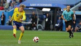Швеция – Швейцария: Форсбергу для гола понадобилось 14 ударов