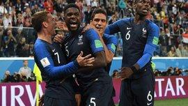 ЧМ-2018: сразу три защитника сборной Франции отличились на Мундиале впервые за 20 лет