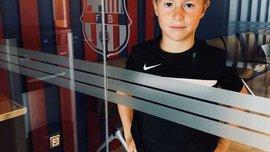 8-летний Калашников из академии Барселоны: Беру пример с Усика, хочу играть за Украину