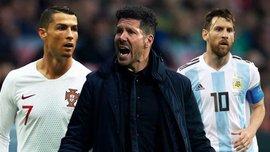 Симеоне прокомментировал скандальную утечку разговора с тренером Атлетико о Месси и Роналду