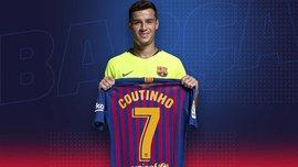 Коутинью выбрал новый номер в Барселоне