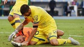 Голкіпер К'єво Соррентіно потрапив у лікарню після зіткнення з Роналду – у гравця підозра на черепно-мозкову травму