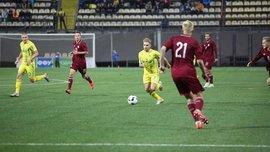 Молодежная сборная Украины в драматичном матче обыграла команду Латвии
