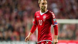 Эриксен удивил результативистю в матчах за сборную